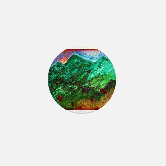 Green Mountains Mini Button