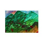 Green Mountains Rectangle Magnet