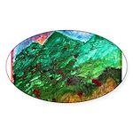 Green Mountains Sticker (Oval 50 pk)