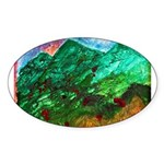 Green Mountains Sticker (Oval)