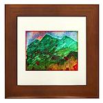 Green Mountains Framed Tile