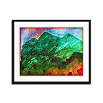 Green Mountains Framed Panel Print