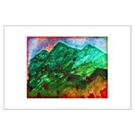 Green Mountains Large Poster