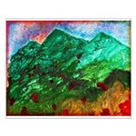 Green Mountains Small Poster