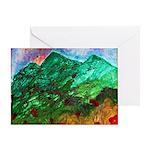 Green Mountains Greeting Card