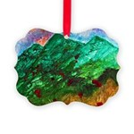 Green Mountains Picture Ornament