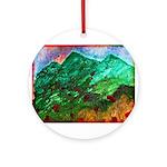 Green Mountains Ornament (Round)