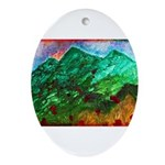 Green Mountains Ornament (Oval)