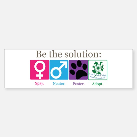 Be the Solution Sticker (Bumper)