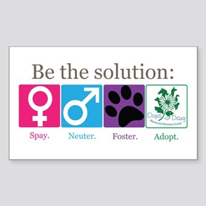 Be the Solution Sticker (Rectangle)