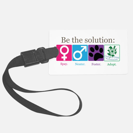 Be the Solution Large Luggage Tag