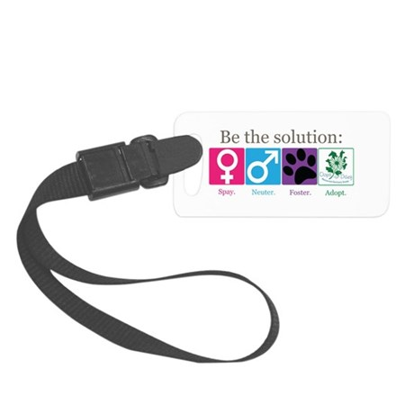Be the Solution Small Luggage Tag