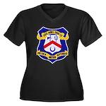 USS HOEL Women's Plus Size V-Neck Dark T-Shirt