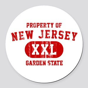 Property of New Jersey the Garden State Round Car