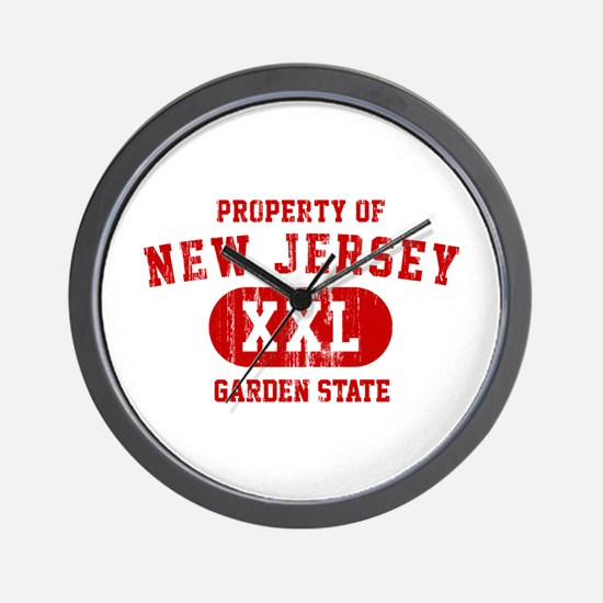 Property of New Jersey the Garden State Wall Clock