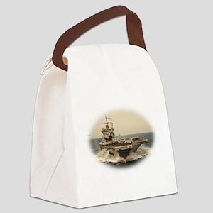 USS Enterprise Canvas Lunch Bag