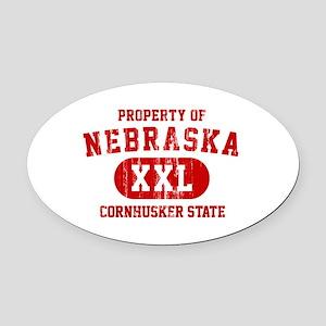 Property of Nebraska the Cornhuskers State Oval Ca