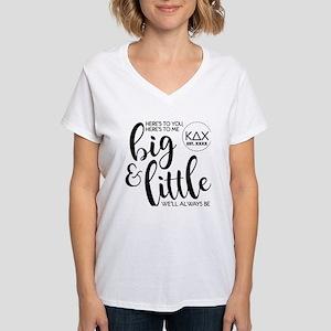 Kappa Delta Chi Big Little Women's V-Neck T-Shirt