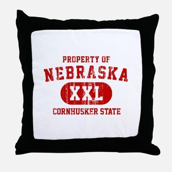 Property of Nebraska the Cornhuskers State Throw P
