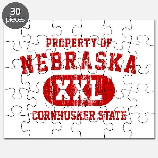 Property of Nebraska the Cornhuskers State Puzzle