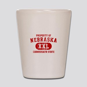 Property of Nebraska the Cornhuskers State Shot Gl