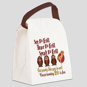 partyevilGIRL80 Canvas Lunch Bag