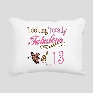 FabPinkBrown13 Rectangular Canvas Pillow