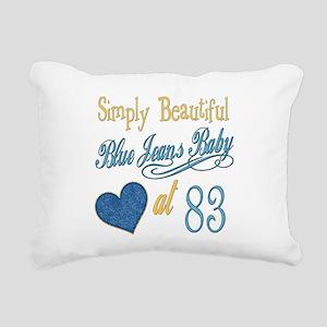 Blue Jeans Baby 83 Rectangular Canvas Pillow