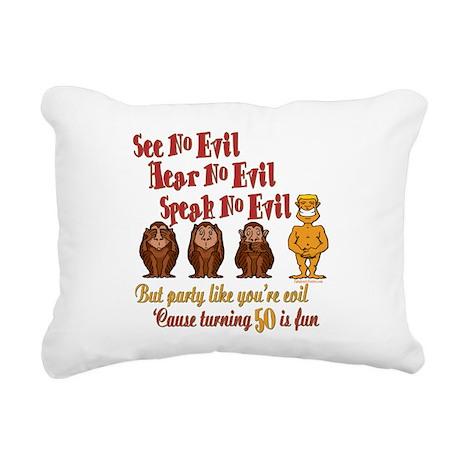 partyevil50.png Rectangular Canvas Pillow