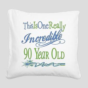 IncredibleGreen90 Square Canvas Pillow