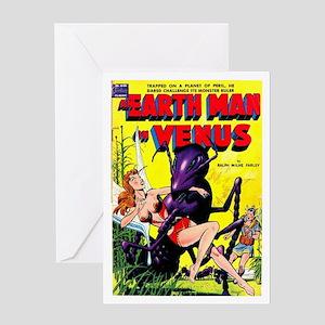 Earth Man On Venus Greeting Card