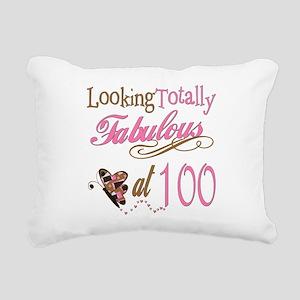 FabPinkBrown100 Rectangular Canvas Pillow
