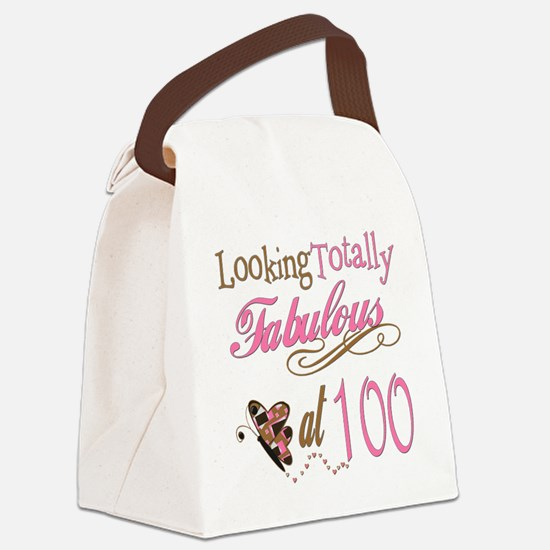 FabPinkBrown100.png Canvas Lunch Bag