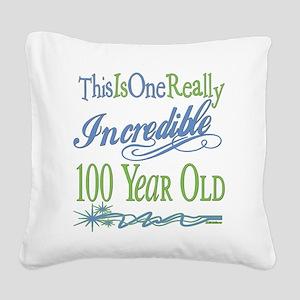 IncredibleGreen100 copy Square Canvas Pillow