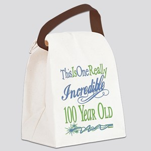IncredibleGreen100 copy Canvas Lunch Bag