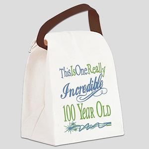 IncredibleGreen100 copy Canvas Lunch Bag