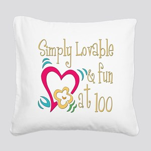 Lovable100 Square Canvas Pillow