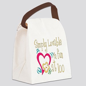 Lovable100 Canvas Lunch Bag