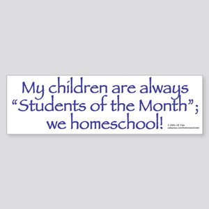 Homeschool Students of the Month Bumper Sticker 2