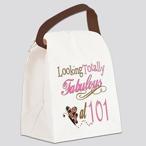 FabPinkBrown101 Canvas Lunch Bag