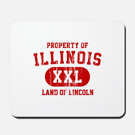 Property of Illinois the Land of Lincoln Mousepad