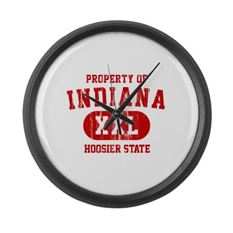 Property of Indiana the Hoosier State Large Wall C