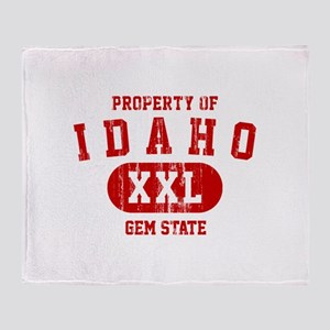 Property of Idaho the Gem State Throw Blanket