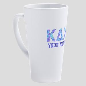 Kappa Delta Chi Floral 17 oz Latte Mug
