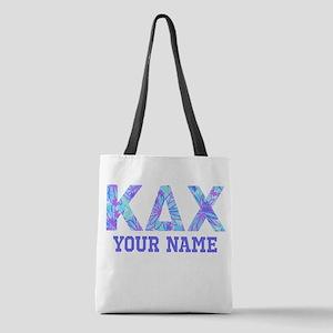 Kappa Delta Chi Floral Polyester Tote Bag
