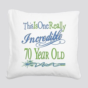 IncredibleGreen70 Square Canvas Pillow