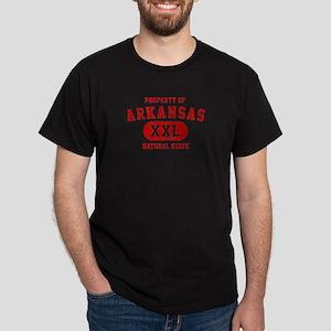 Property of Arkansas The Natural State Dark T-Shir