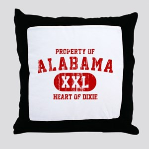 Property of Alabama, Heart of Dixie Throw Pillow
