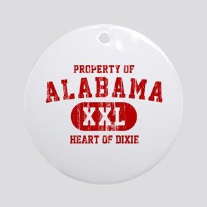 Property of Alabama, Heart of Dixie Ornament (Roun