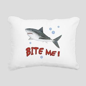 Shark - Bite Me Rectangular Canvas Pillow